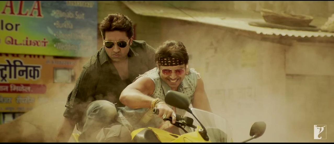 Abhishek Bachchan and Uday Chopra in Bikes in the trailer of Dhoom 3