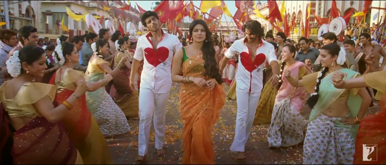 Arjun Kapoor, Ranveer Singh and Priyanka Chopra Dancing Together in Gunday Movie