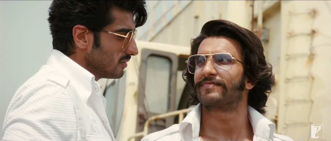 Coal Mafia BIkram And Bala (Arjun Kapoor And Ranveer Singh) In White Dress in Gunday (2014) Film