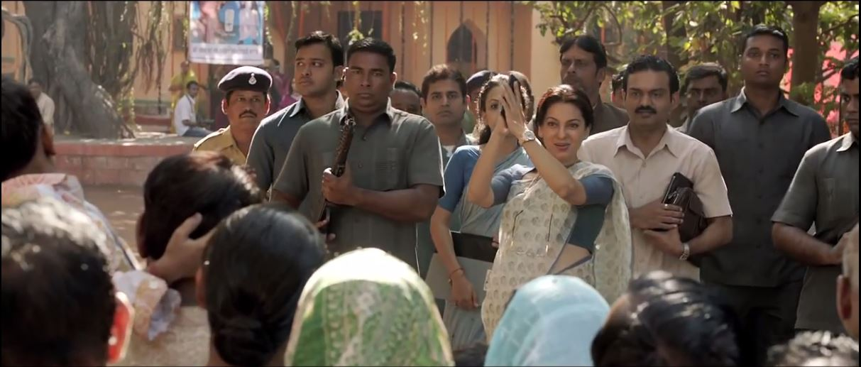 Politician Sumitra Devi (Juhi Chawla) in Gulaab Gang Official Trailer