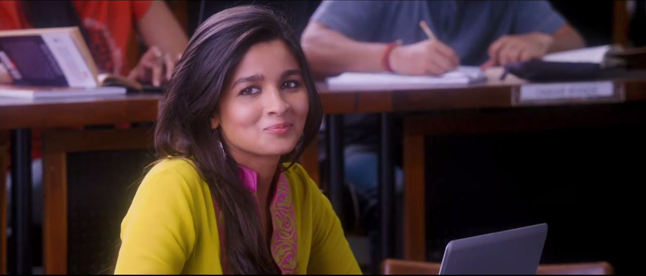 Alia Bhatt Looking Very Very Beautiful In Yellow Dress in 2 States Movie