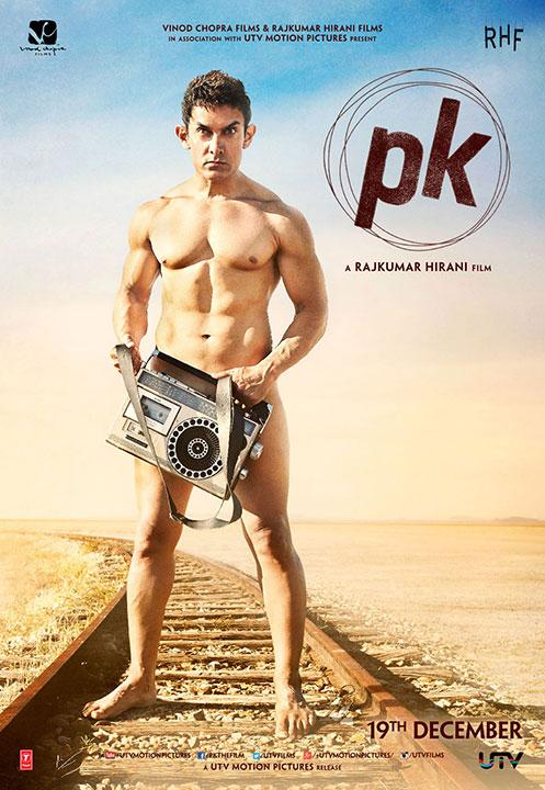 PK Film Poster #1 Ft. Aamir Khan