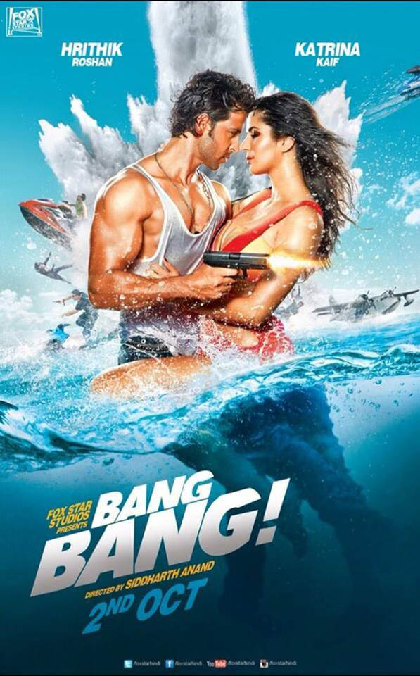 Bang Bang Movie Poster Featured Hrithik Roshan & Katrina Kaif