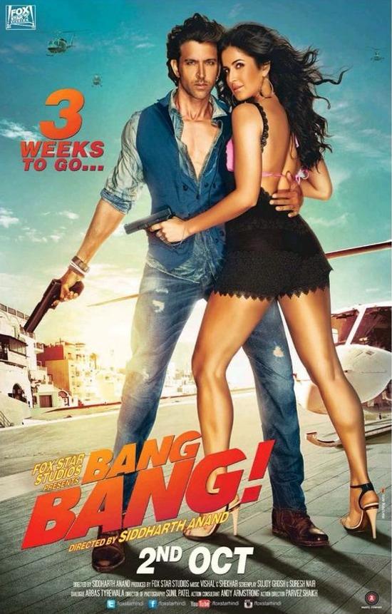 Bang Bang New 3rd Poster Hrithik Roshan Katrina Kaif