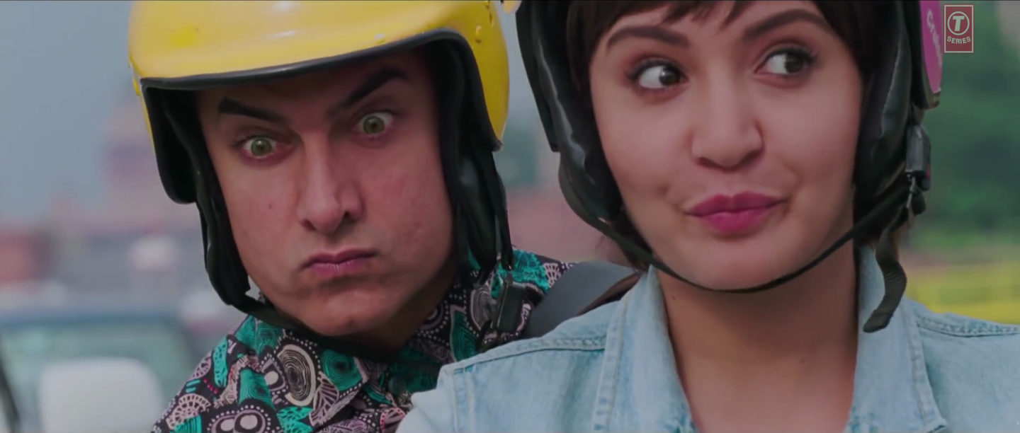 Aamir Khan and Anushka Sharma in Love is a Waste of Time