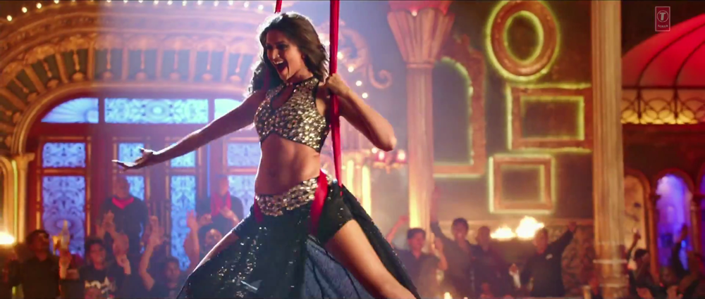 Deepika Dancing with Hanging Rope in Lovely video Song