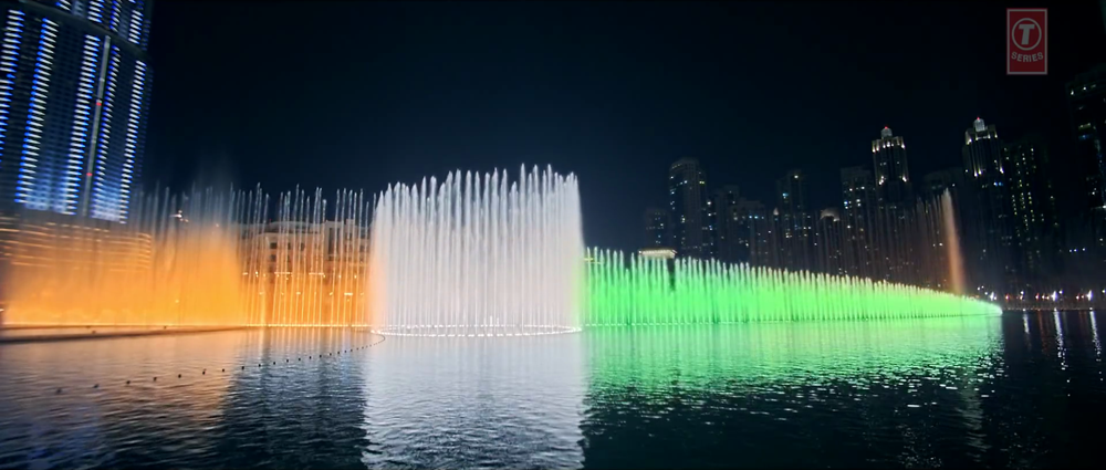 Indian Tricolor in Dubai Lighting in Satakli Video Song