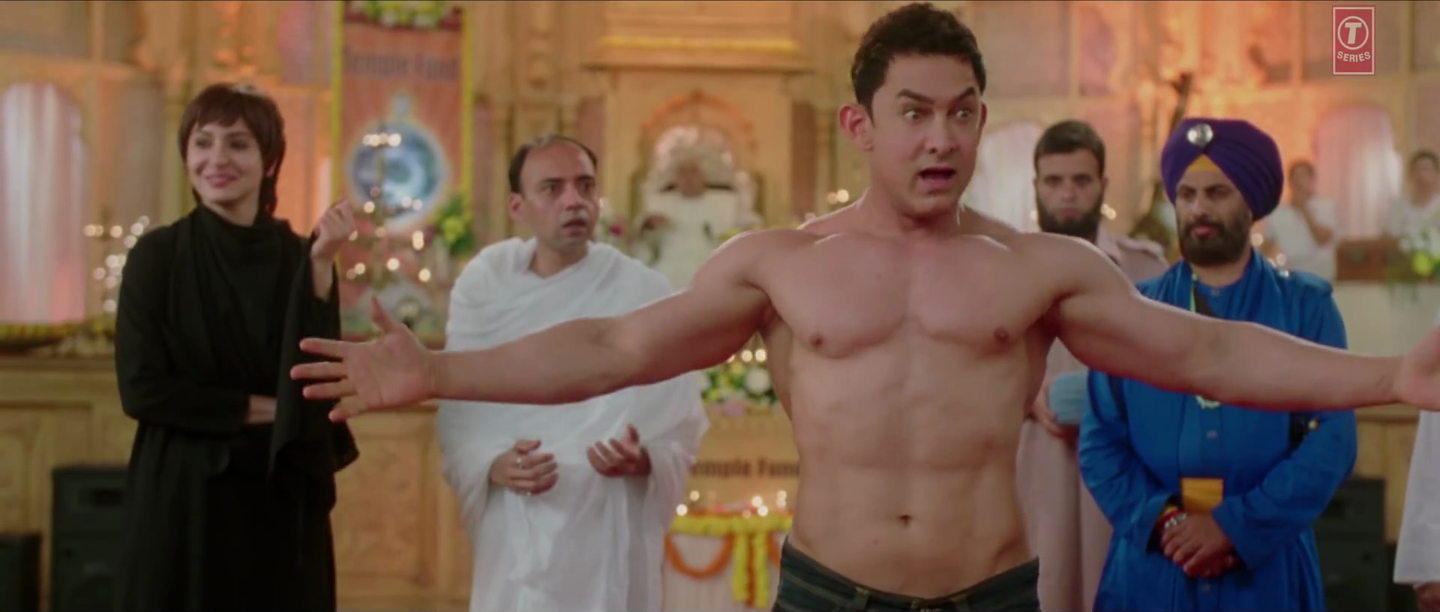 Aamir Khan Body Show in Nanga Punga Dost Video Song