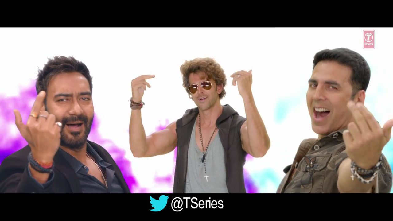 Ajay Hrithik Akshay Dance In Birju Song