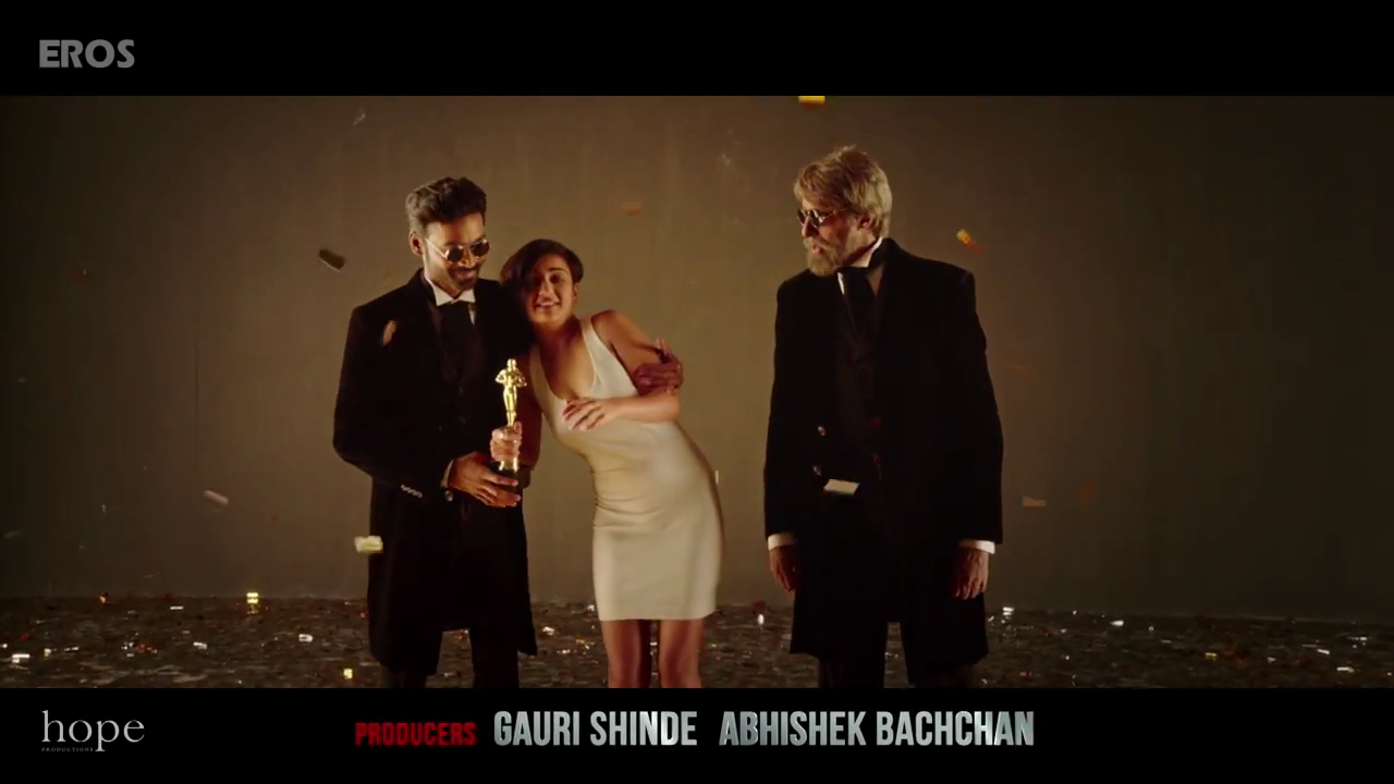 Amitabh, Dhanus and Akshara in Shamitabh Movie