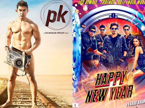 PK vs Happy New Year Box Office Comparison Reports