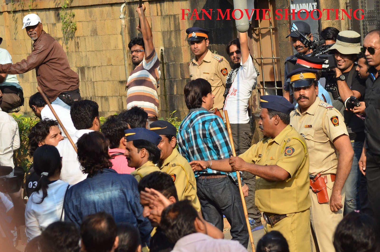 Shahrukh Khan In Fan Movie Shooting