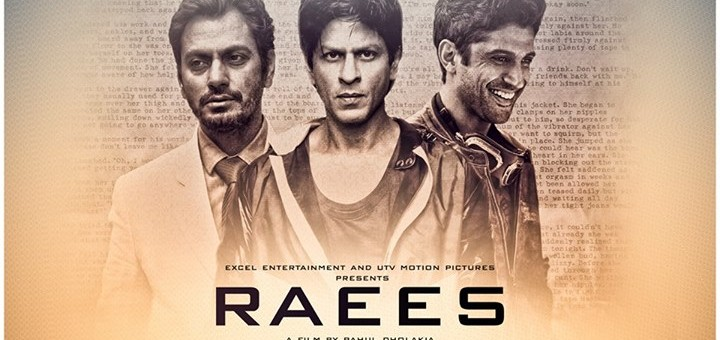 Shahrukh Khan's Movie Raees Movie Poster