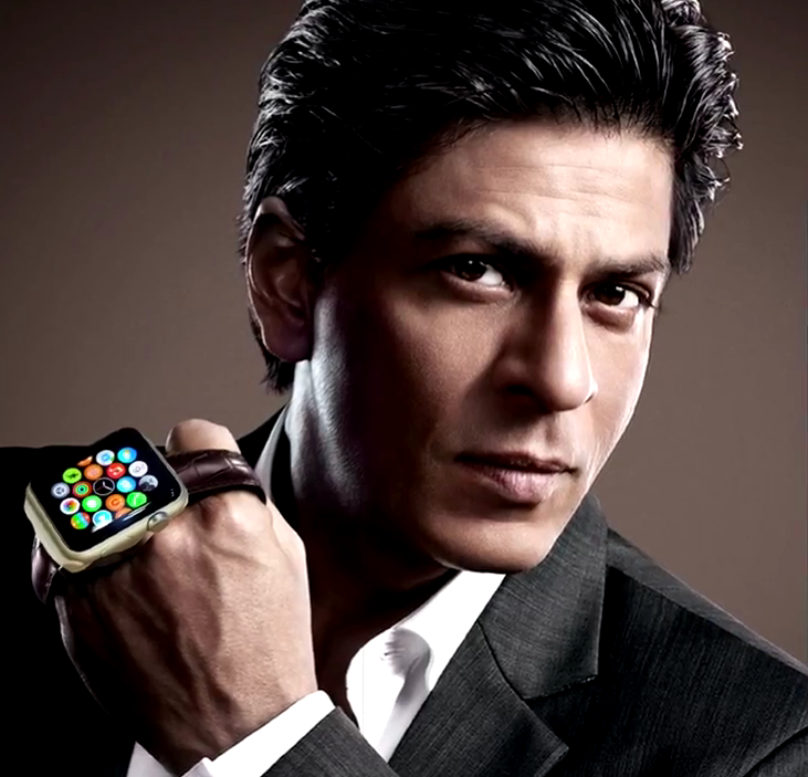 Shahrukh khan first indian celebrity to use apple watch entertainment for Actor watches
