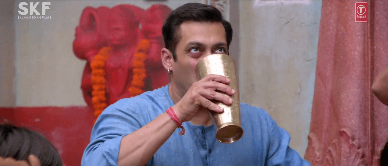 Salman Khan Drink Lassi Photo