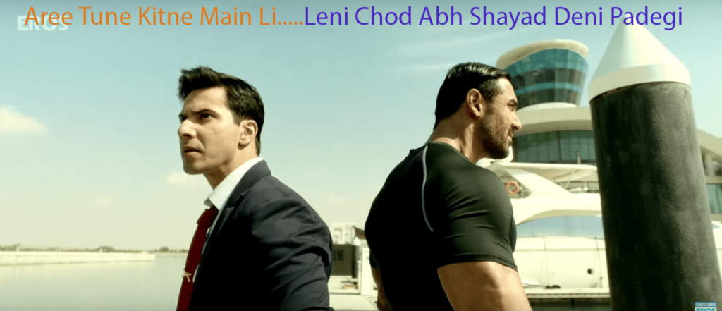 Complete List of Dishoom Dialogues