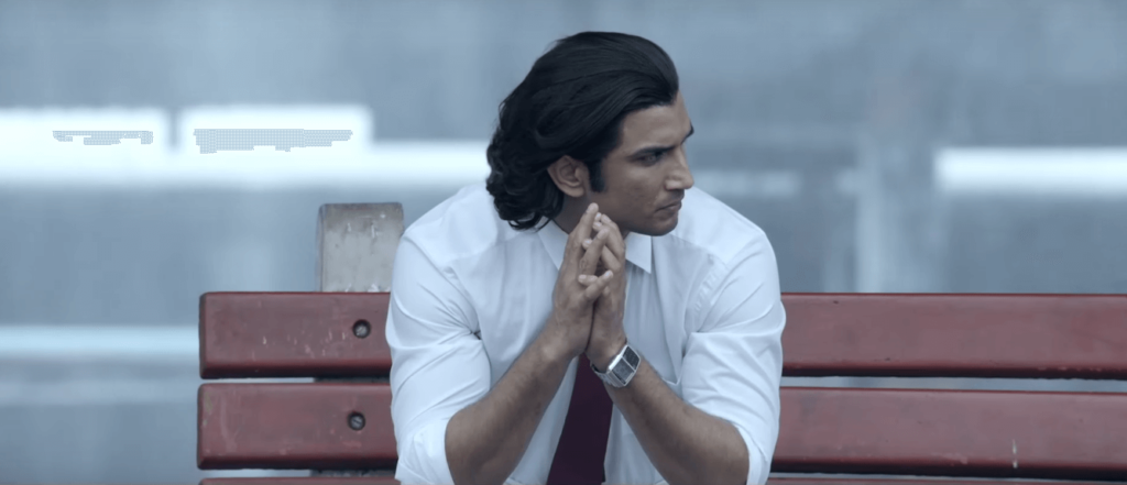 Hot Actor Sushant Singh Rajput Waiting At A Railway Station In M.S.Dhoni - The Untold Story Film (2016)